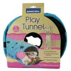 Ancol Cat Play Tunnel Grey - Small