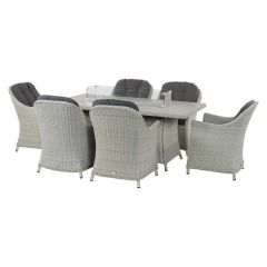 Chatsworth 6 Seater Set With 180cm Rectangle Firepit Table
