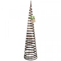 Faux Rattan Obelisk - Chestnut 1.5m - Smart Garden