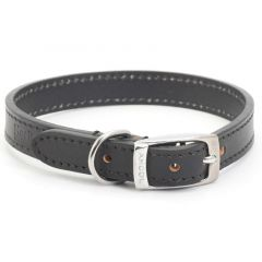 Ancol Classic Leather Dog Collar Black - Size 7 (50-59cm)