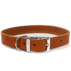 Ancol Classic Leather Dog Collar Tan - Size 2 (26-31cm)