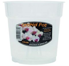 Clear Orchid Pot 13cm - Growth Technology
