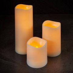 Flameless Pillar Candle 7.5 x 18 cm - Smart Garden