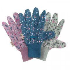 Cotton Grips - FlowerField Triple Pack Med / Size 8 - Smart Garden