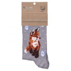 Wrendale 'Born To Be Wild' Fox Bamboo Socks