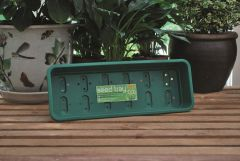 Worth Gardening Narrow Seed Tray Green With Holes