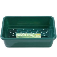 Worth Gardening Small Seed Tray Green With Holes