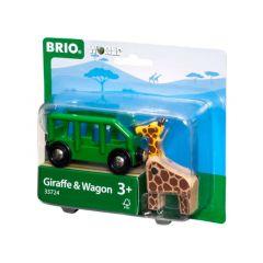 Giraffe and Wagon - BRIO