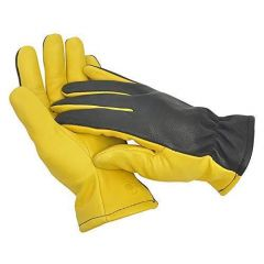Ladies Gold Leaf Dry Touch Gardening Gloves