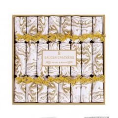 Silver & Gold Saucer Crackers 8 Pack - RSW