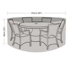 6 Seater Round Furniture Set Cover Green - Worth Gardening