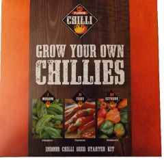 Taylors Bulbs - Grow Your Own Chillis - Indoor Chilli Seed Starter Kit