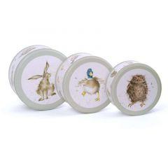 Wrendale 'Hare Raising' Set of 3 Cake Tin Nest