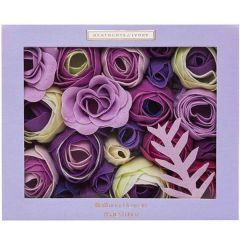 Lavender Fields Bathing Flowers 85g - Heathcote and Ivory
