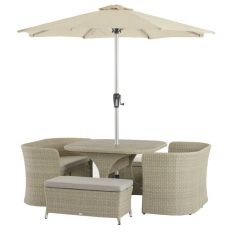 Bramblecrest Henley 4 Plus Seater Balcony Cube Set