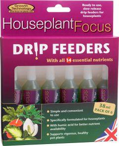 Houseplant Focus Drip Feeders - 38ml - 6 Pack