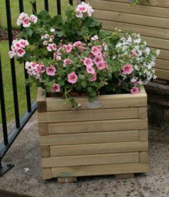 Hutton Wooden Square Planter - 40cm