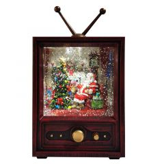 Battery Operated LED Water Retro TV - Snowtime