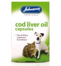 Johnsons Veterinary Products Cod Liver Oil Capsules - 170 Capsules