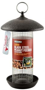 Large Black Steel Peanut Feeder - Gardman