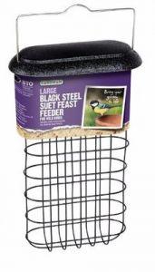 Large Black Steel Suet Feats Feeder - Gardman