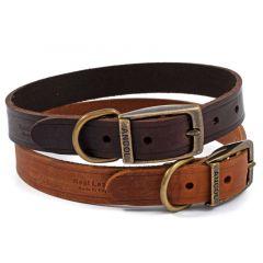 Ancol Latigo Leather Collar 20-26cm Size 1