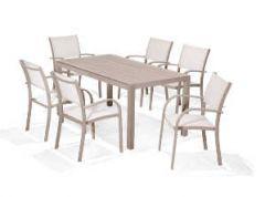 LifestyleGarden Morella 6 Seat 160cm Rectangle Dining Set
