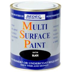 Bedec Multi Surface Paint Soft Satin Black 750ml