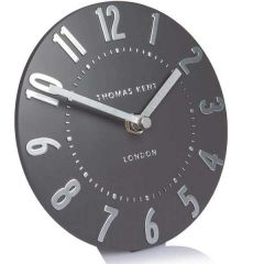Thomas Kent Mulberry Clock Graphite Silver 6""
