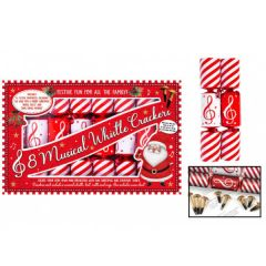 Musical Whistle Christmas Crackers 8 Pack - RSW