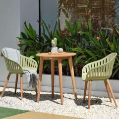 LifestyleGarden Nassau 66cm Bistro Set - Sage Green
