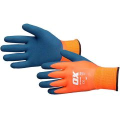 Ox Waterproof Thermal Latex Gloves - Size 10/XL