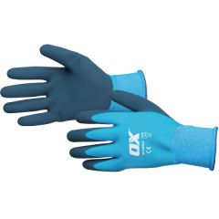 Ox Waterproof Latex Gloves - Size 9/L
