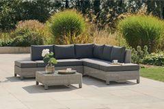 Kettler Palma Low Lounge Corner Seating Set With Cushions (Whitewash)
