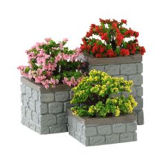Lemax Flower Bed Boxes Set Of 3