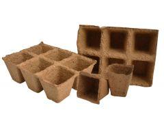 Plantpak PFFibre Pots Square 6cm - Pack of 20