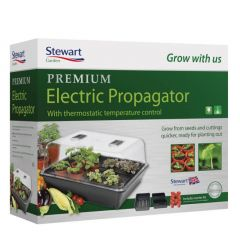 Stewart Garden 52cm Thermostatic Control Electric Propagator - Black