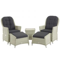 Chatsworth Recliner Set With 2 Footstools & Side Table