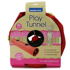 Ancol Cat Tunnel Red Polka