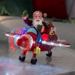 Konstsmide Fibre Optic Plane With Santa LED 25cm
