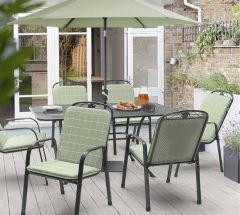 Kettler Siena 6 Seat Rectangular Set Sage Green