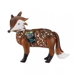 Solar Powered Metal Silhouette Fox - Smart Solar