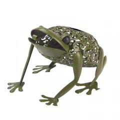 Solar Powered Metal Silhouette Frog - Smart Solar