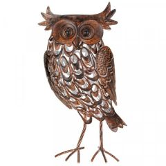 Solar Powered Metal Silhouette Giant Owl - Smart Solar