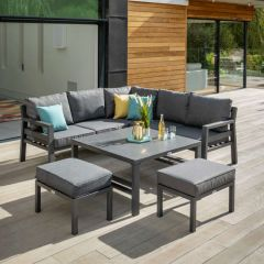 Hartman Somerton Square Casual Lounge Set With Stools (Luxury Cushions)