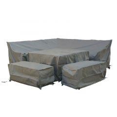 Bramblecrest Square Corner Sofa Set Cover Khaki