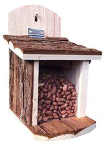 Natural Bark Squirrel Feeder - Green Key