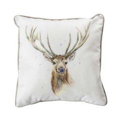 Kilburn & Scott Stag Watercolor Cushion - Mink 45x45cm