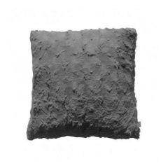 Stellan Faux Fur Cushion - Gunmetal Grey