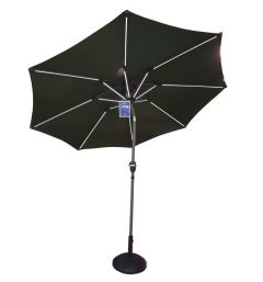 Sturdi Plus Aluminium Parasol With LED Taupe 2.7m - Glencrest